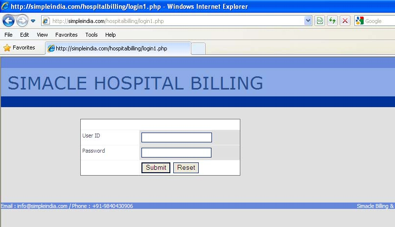 Free Hospital Software Chennai India